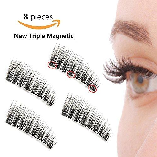 d8e6f2da411 3 Magnetic Eyelashes Full Strip Fake Lashes Ultra Thin No Glue Reusable  False Magnet Eyelashes Premium