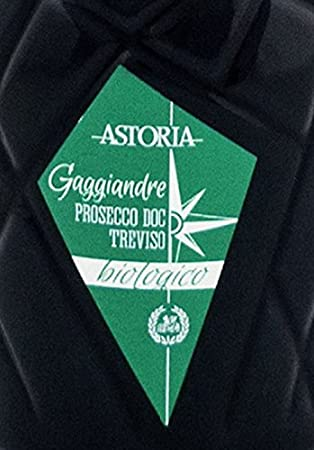 Prosecco DOC Treviso biologico GAGGIANDRE Astoria Vino Espumoso Organico Italiano (1 botella 75 cl.)