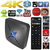 Android TV box,Eliker Quad-core 64-bit 1G 8G UHD 4K 60fps H.266 Android 6.0 OTT TV box