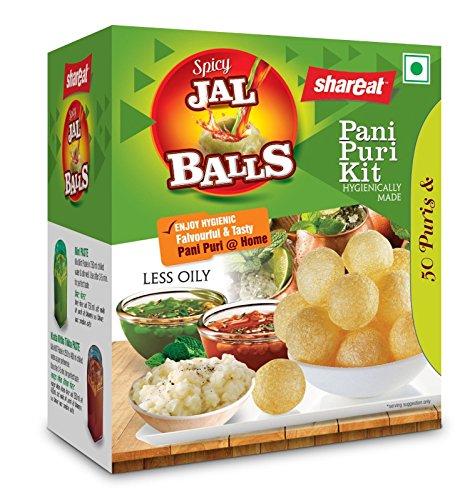 PANI PURI Kit Ready-to-fry Dry Gol Gappa Combo of Dry Gol Gappa / Pani Puri Imli Chutney Powder + Mint 9Pudina) Pani Powder