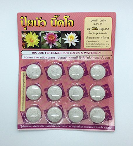 (1 Pack, 12 Tablets)Big Joe Fertilizer Tablet for Lotus and Waterlily by Angun (Shop Fertilizers)