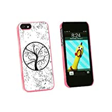 Graphics and More Tree of Life Distressed Snap-On Hard Protective Case for iPhone 5/5s - Non-Retail Packaging - Pink