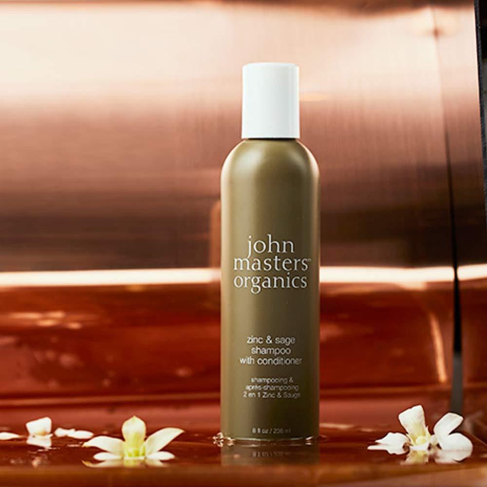 John Masters Organics Zinc y Sage Champú con Acondicionador, Shampoo, 473ml: Amazon.es: Belleza