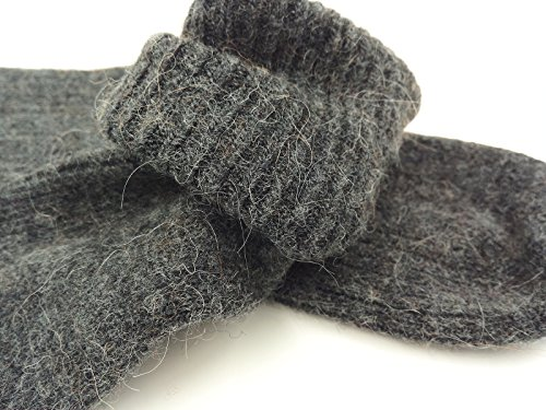 - Mongolia Pure Cashmere Thick Women Woman Girls Socks(1 pairs) (Dark Gray)