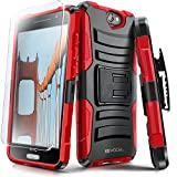htc one phone accessories - Evocel HTC One A9 Case [Generation Series] Rugged Holster [Kickstand & Belt Swivel Clip] + HD Screen Protector For HTC One A9 / HTC Aero, Red (EVO-HTCA9-AB203)