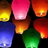 TDD-CL10 10 Chinese Fire Lanterns for Wish Party