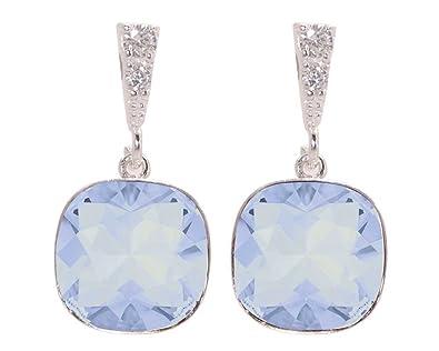 c23d34358676 Pendientes Plata 925 para mujer con cristal de Swarovski y circonitas AAA