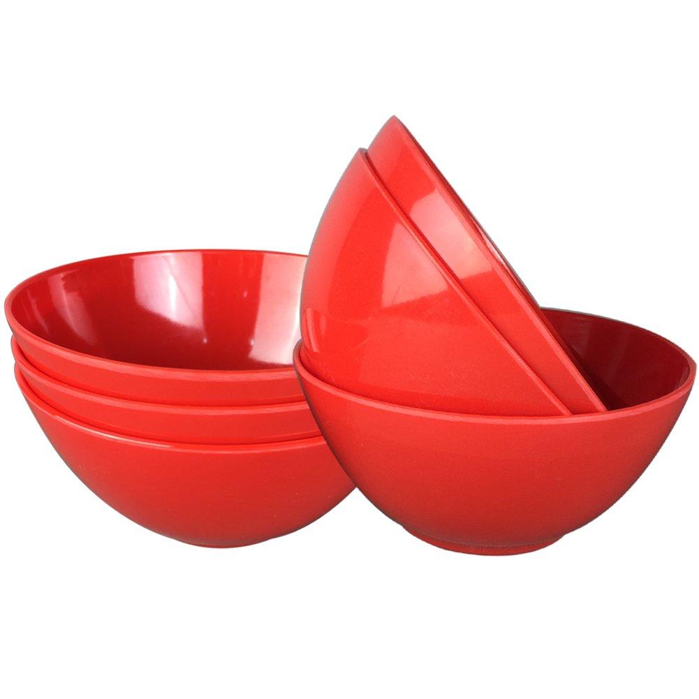Melamine Salad Bowls - Dinnerware Bowls Set, Dia 6 inch, Set of 6, Blue Yinshine ME5006-BLUE