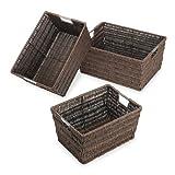 Whitmor 6500-1959 Set of 3 Rattique Baskets, Java