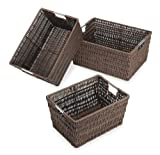 Whitmor Rattique Storage Baskets Set of