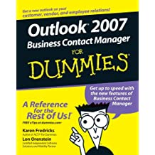 Outlook 2007 Business Contact Manager For Dummies