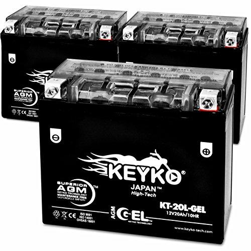 Kawasaki (JET SKI) 550cc JS550 '84 YTX 20L 1984 - 270 CCA Cold Cranking Amps - REAL 20 Amp - Battery AGM GEL Extreme High Performance Sealed Maintenance Free - Genuine KEYKO - 3 Pack (Ski 1984)
