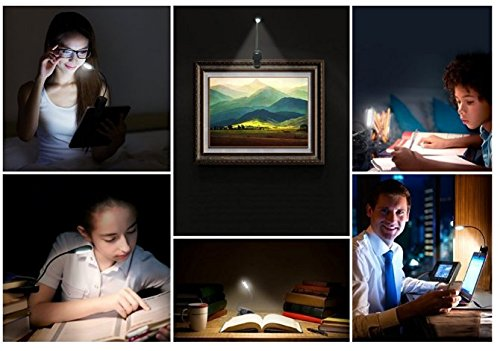 5 Led Extra Bright Rechargeable Book Light 2 Levels Of