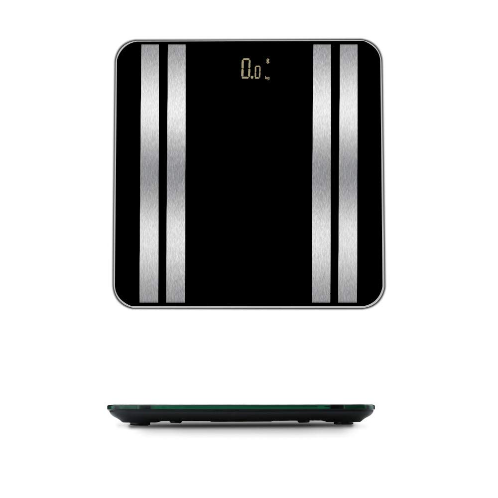 JinJin Scale Bluetooth Body Scale Smart Scale Digital Bathroom Wireless Weight Scale iOS & Android APP for Body Weighc (black)