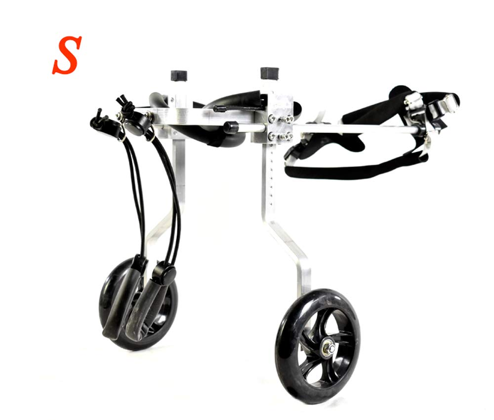 S02 Dog cart, suitable for pets hind legs practice rehabilitation limb disabled disabled walking, large small dogs, adjustable, 2 rounds, 1.5 kg (3.3 lbs)  60 kg (132 lbs), available in a variety of size
