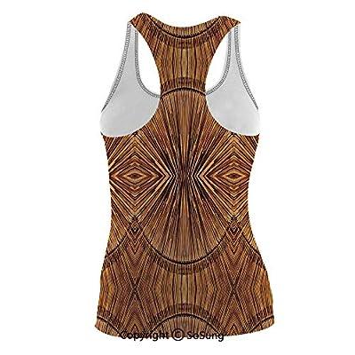 Women Top U Neck Tank Vest Eastern Ethnic Spiritual Jagged Summer T Shirts