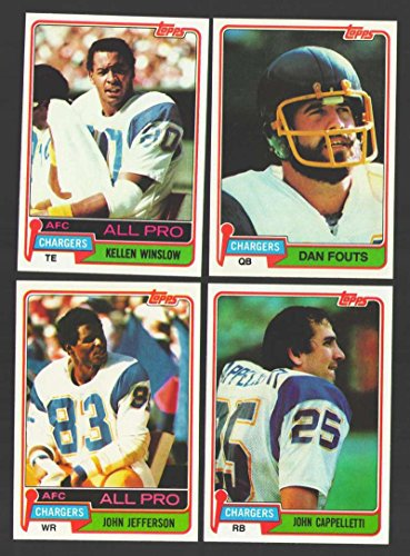 1981 Topps Football Team Set - SAN DIEGO CHARGERS