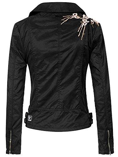 Solida Donna Giacca Khujo Jacket Nero RdSAqw
