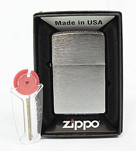 Zippo Mechero Cromado con Efecto Cepillado, Incluye 6 Piedras de Repuesto: Amazon.es: Hogar