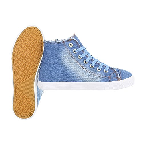 Zapatillas Plano Ital Design Para Zapatillas Zapatos Lumière Altas Mujer Bleue q7nnYaxBwX