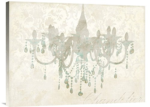 """Global Gallery """"Remy Dellal Chandelier Gallery Wrap Giclee on Canvas Print Wall Art, 24"""" x 32"""" from Global Gallery"""