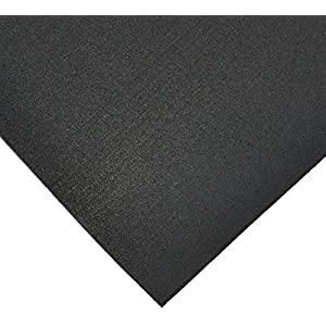 Rubber-Cal Elephant Bark Flooring and Rolling Mat, Black, 1/4-Inch x 4 x 6-Feet