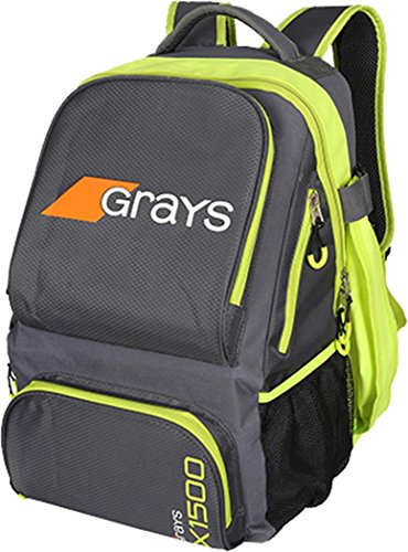 Grays Backpack Gx150 Grey/lime Senior (Stick Hockey Senior Bag)