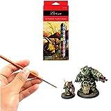 Small Enamel Paint Brushes Set - 11 Pieces Detail