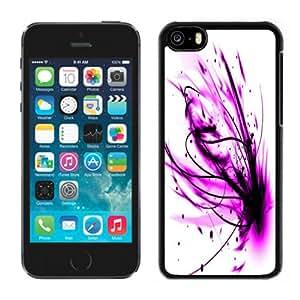 Beautiful Custom Designed iPhone 5C Phone Case For Purple Paint Splash Phone Case Cover