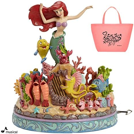 Disney Airel The Little Mermaid Musical Figurine Tote – 2 Piece Gift Set