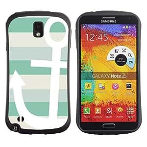 Suave TPU GEL Carcasa Funda Silicona Blando Estuche Caso de protección (para) Samsung Note 3 / CECELL Phone case / / Boat Summer Sun Sailing Lines /