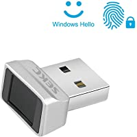 SEKC USB Fingerprint Reader for Windows 10 Hello, 0.05s 360 Degrees Sensor Fingerprint Security Device