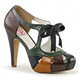 "Search : Pin Up Couture BETTIE-19 Women 4 1/2"" Heel, 1"" Semi Hidden Platform Closed Toe Sandal"