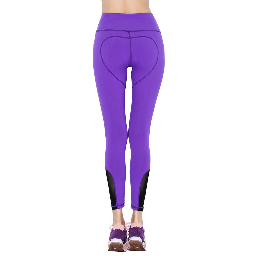58c2d745e3bc0 Serda Women's Purple Sports Leggings Tights Fitness Yoga Workout Running Gym  Pant: Amazon.co.uk: Clothing