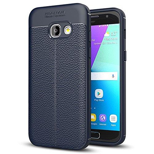 Samsung Galaxy A5 (2017) Hülle, MSVII® Anti-Shock Weich TPU Silikon Hülle Schutzhülle Case Und Displayschutzfolie für Samsung Galaxy A5 (2017) - Blau JY90007