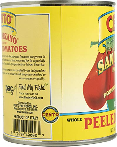 Cento Certified San Marzano Whole Peeled Plum Tomatoes, 28 Oz, Pack Of 6, 168 Oz