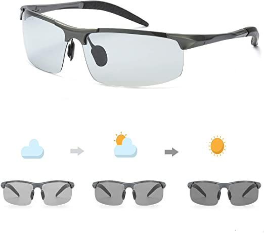 Men/'s Polarized Driving Sunglasses Sports Change Color New Fashion