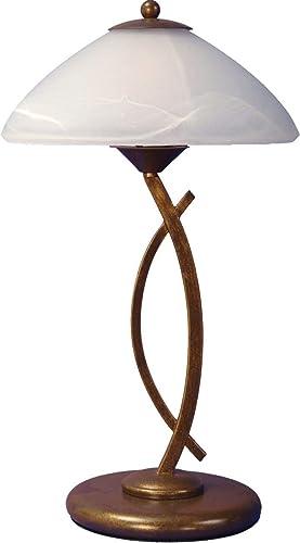 Lampada Da Tavolo Luminosa Bianco Altezza 50 Cm Curva Conica Decorazioni In Metallo Lampada Da Interni Lampada In Vetro Lampada Da Tavolo Amazon It Illuminazione