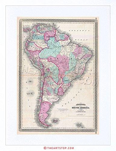 0 Johnson South America Vintage Framed Print F97X2041 ()