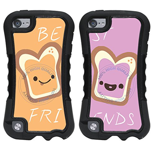 - BleuReign(TM) Set Of 2 BFF Peanut Butter And Jelly 2-Piece Dual Layer Phone Case Back Cover For Apple iPod Touch 5th Generation