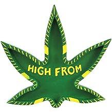 Ashtray Marijuana Leaf Shaped 420 Friendly Pot Cannabis Hemp Cigarette Ashtray