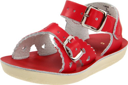 Girls Sun San, Sweetheart Sandal RED 9 M ()