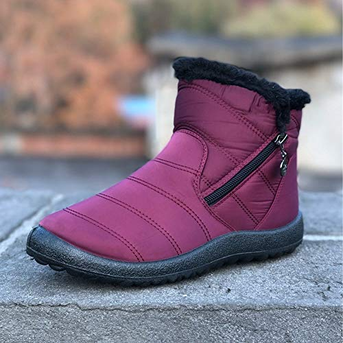 Side forty gules Ladies Snow Boots Ykfchdx Keep Warm Waterproof Winter Zipper Autumn Cotton Y4pqT