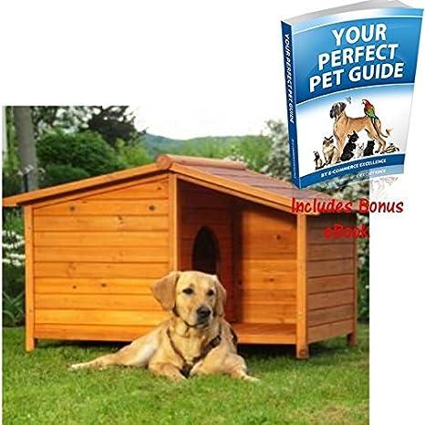 Resistente y madera de atractivo para exterior Caseta de perro & un patio – Una excelente
