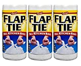 Glad 3 Piece Tall Kitchen Flap-Tie Trash Bags, 13 gal, 40 Count