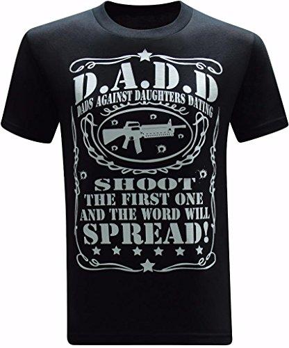 tees geek Dads Against Daughters Dating Men's T-Shirt - (X-Large) - Black