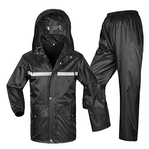 LAXF- Rain Suit for Men and Women Reusable Rainwear (Rain Jacket And Rain Pants Set) Adults Waterproof Rainproof Windproof Hooded Outdoor Work Motorcycle Golf Fishing Hiking Hunting (Size : XXXL)