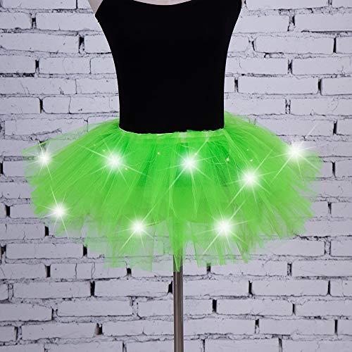 Tütü Tüllrock Ballettkleid Damen Frauen 3 Lagen Kostüm Fasching Party Dunkelgrün