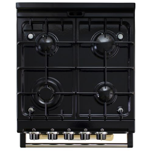 AGA ATC2DFAUB 24'' Freestanding Dual Fuel Range with 4.9 cu. ft. Oven Capacity 4 Sealed Burners Roasting Oven Slow Cook Oven 3 Pre-set Temperature Settings and 1 Work Burner in