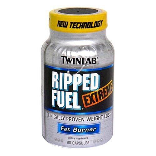 Twinlab Ripped Fuel Extreme Fat Burner,sans éphédra, 60 Capsules (pack de 2)